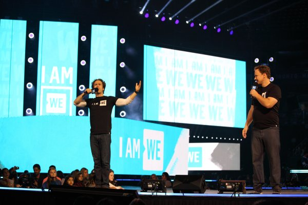 International activists and co-founders of WE, Craig & Marc Kielburger, inspires 20,000 attendees at the inaugural WE Day Family in Toronto at the Air Canada Centre on October 19, 2016. Photo Credit: Maria Gagliardi for WE Day